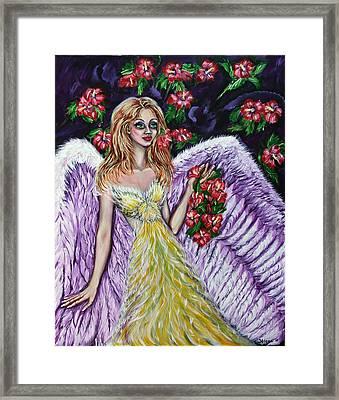 Purple Angel Of Love  Framed Print