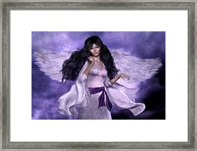 Purple Angel Framed Print by Suzanne Amberson