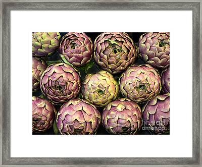 Purple Artichokes Closeup Framed Print by Frank Bach