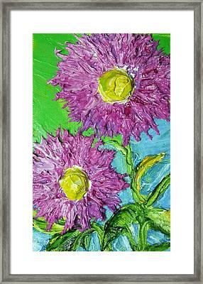 Purple Asters Framed Print by Paris Wyatt Llanso