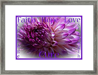 Purple Awareness Support Framed Print
