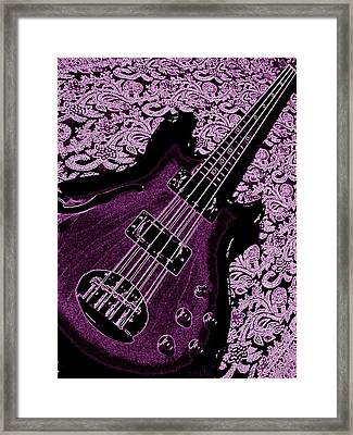 Purple Bass Framed Print by Chris Berry