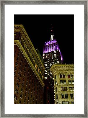 Purple Beacon Framed Print