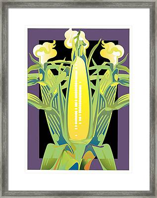 Purple-black Corn Framed Print