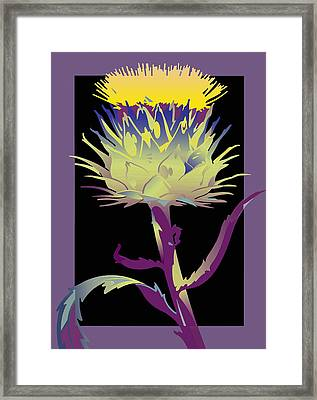 Purple-black Thistle Framed Print