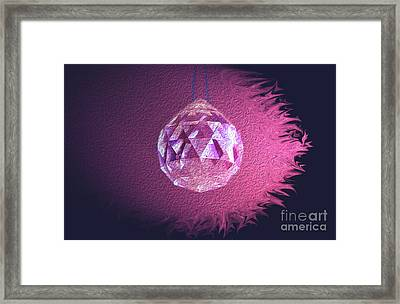 Purple Blaze Framed Print