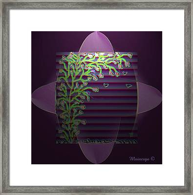 Purple Blind Framed Print by Ines Garay-Colomba