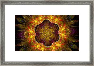 Purple Bliss Kaleidoscope Framed Print