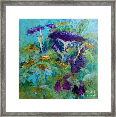 Purple Blooms Framed Print by Virginia Dauth