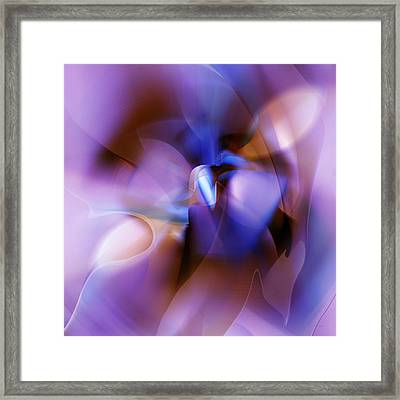 Purple Blossom Abstract Framed Print
