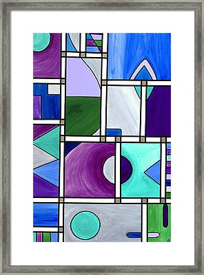 Purple -blue -green  Abstract 2 Framed Print by Patty Vicknair