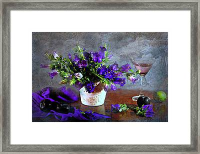 Purple Blues Framed Print by Diana Angstadt