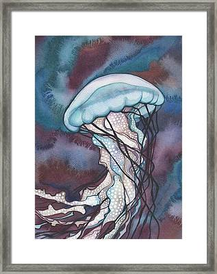 Purple Bold Jellyfish Framed Print by Tamara Phillips