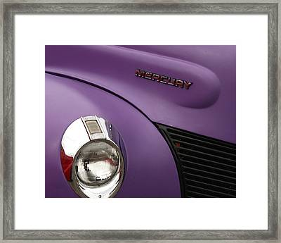 Purple Bomb Framed Print by Art Block Collections