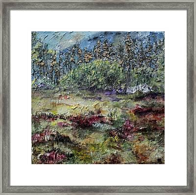 Purple  Framed Print by Brenda Berdnik