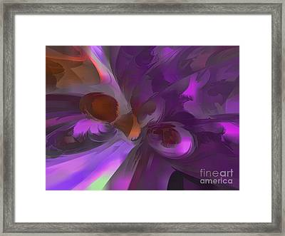 Purple Butterfly Pastel Abstract Framed Print by Alexander Butler
