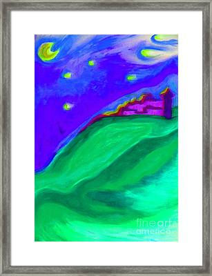 Framed Print featuring the painting Purple Castle By Jrr by First Star Art