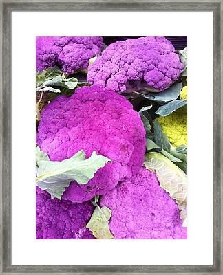 Purple Cauliflower Framed Print