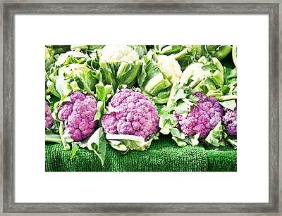 Purple Cauliflower Framed Print