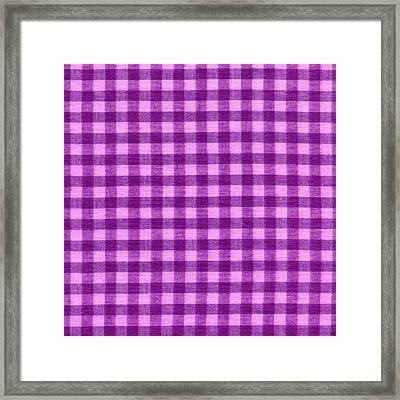 Purple Checkered Design Fabric Background Framed Print by Keith Webber Jr
