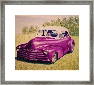 Framed Print featuring the painting Purple Chevrolet by Stacy C Bottoms