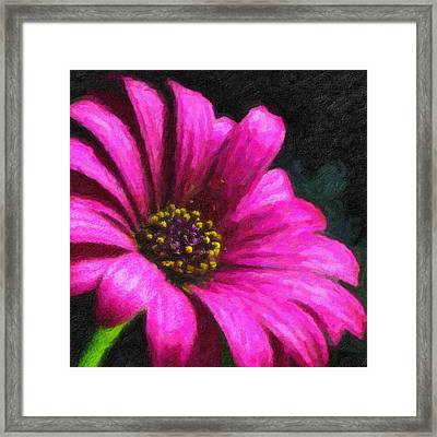 Framed Print featuring the digital art Purple by Chuck Mountain