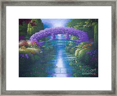 Purple Connection Framed Print
