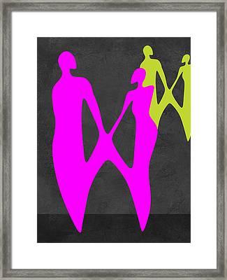 Purple Couple Framed Print