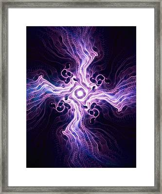 Purple Cross Framed Print by Anastasiya Malakhova