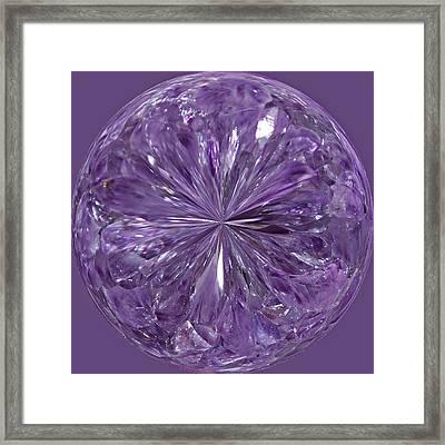Purple Crystal Gem Framed Print