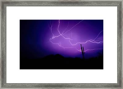 Purple Desert Skies  Framed Print