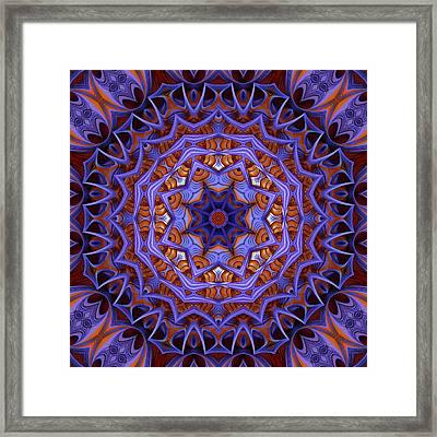 Purple Design 1 Framed Print by Lilia D