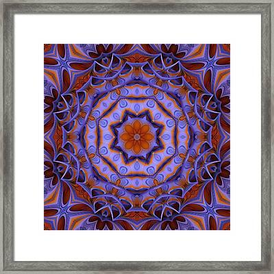 Purple Design 2 Framed Print by Lilia D