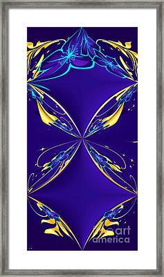 Purple Diamonds Framed Print by Liane Wright