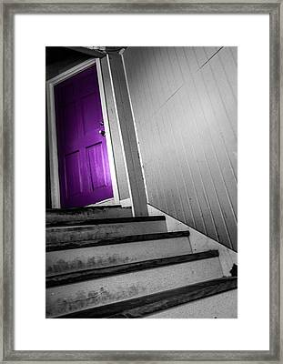 Purple Door Framed Print by Christy Usilton