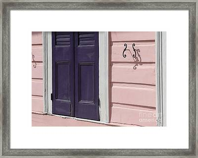 Framed Print featuring the photograph Purple Door by Valerie Reeves