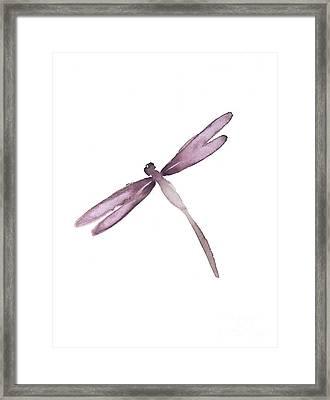 Purple Dragonfly. Framed Print