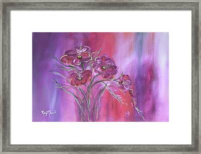 Purple Drifter Framed Print by Kathy Morawiec