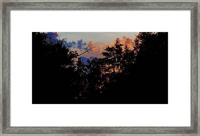Framed Print featuring the photograph Purple Ending by David  Norman