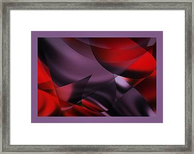 Purple Energy  Framed Print