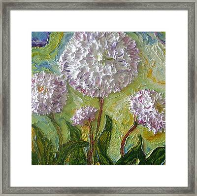 Purple English Daisy Framed Print by Paris Wyatt Llanso