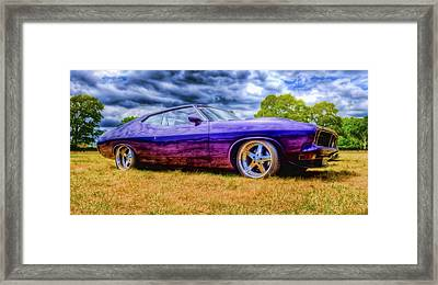 Purple Falcon Coupe Framed Print by Phil 'motography' Clark