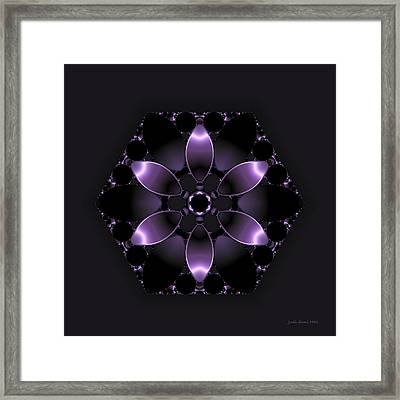 Purple Fantasy Flower Framed Print by Judi Suni Hall