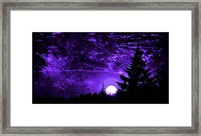 Purple Fantasy Sunset Framed Print