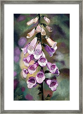 Purple Fingers, 2010 Framed Print