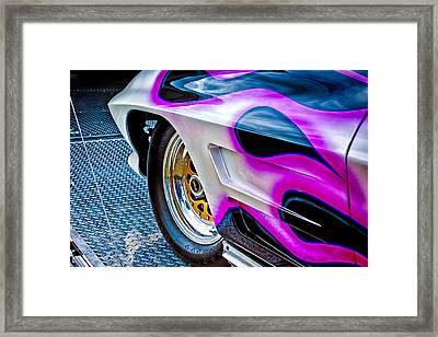 Purple Fire Framed Print by Jeff Sinon