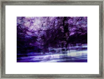 Purple Fire Framed Print
