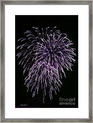 Purple Fire  Framed Print by Yumi Johnson