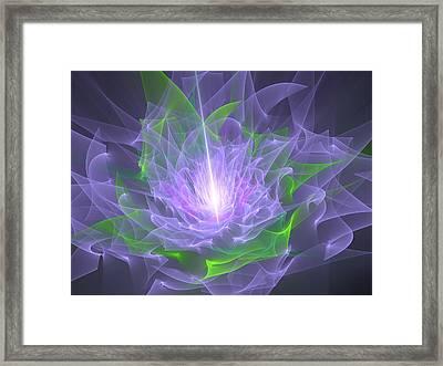 Purple Flame Framed Print