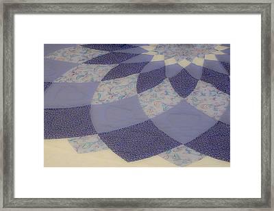 Purple Floral Pattern Framed Print by Douglas Barnett